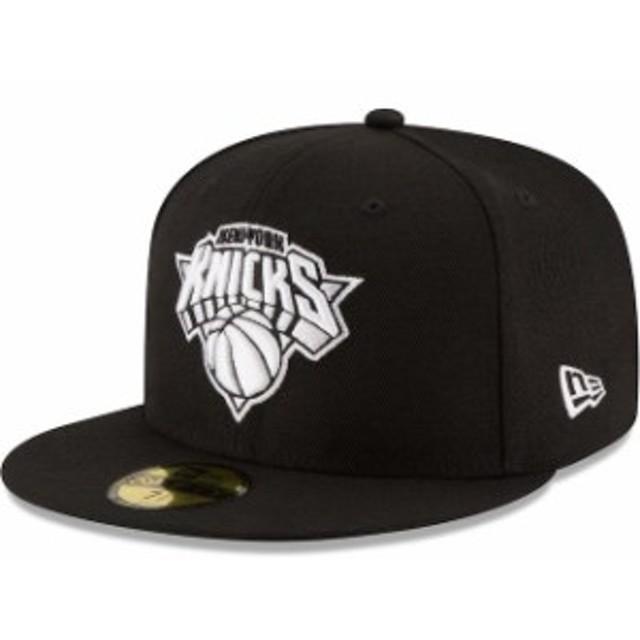 New Era ニュー エラ スポーツ用品  New Era New York Knicks Black Black & White Logo 59FIFTY Fitted Hat