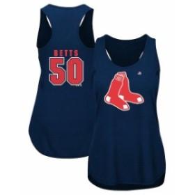 Majestic マジェスティック スポーツ用品  Majestic Mookie Betts Boston Red Sox Navy Men of October Player Tank Top