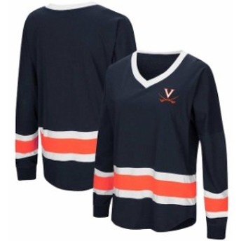 Colosseum コロセウム スポーツ用品 Colosseum Virginia Cavaliers Womens Navy Marquee Players Oversized Long Sleeve V-N