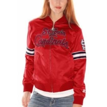 Starter スターター アウターウェア ジャケット/アウター Starter St. Louis Cardinals Womens Red Blitz Satin Fu