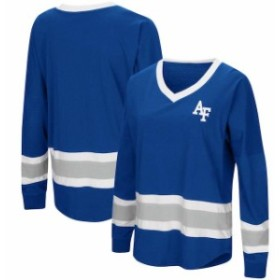 Colosseum コロセウム スポーツ用品  Colosseum Air Force Falcons Womens Royal Marquee Players Oversized Long Sleeve V-N