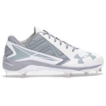 Under Armour アンダー アーマー スポーツ用品 Under Armour White/Gray Yard Low ST Cleats