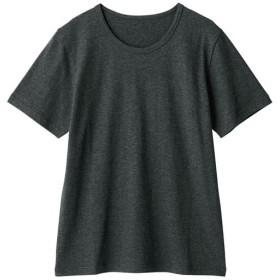 【レディース】 型崩れしにくいSZTシャツ 半袖 - セシール ■カラー:チャコールグレー(杢) ■サイズ:M,LL,L