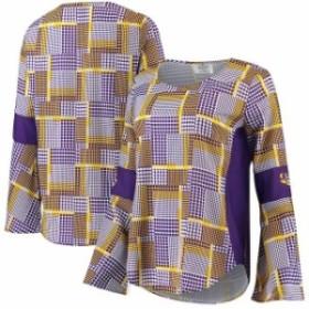 Emerson Street エマーソン ストリート スポーツ用品  LSU Tigers Womens Multi Erin Long Bell Sleeve T-Shirt