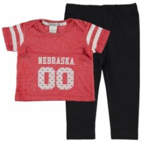 chicka-d チッカ スポーツ用品  chicka-d Nebraska Cornhuskers Girls Infant Scarlet Boxy Crop Top and Leggings Set