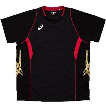 アシックス バレーボール用 ゲームシャツHS XW1314 [カラー:ブラック×Vレッド] [サイズ:L] #XW1314 ASICS
