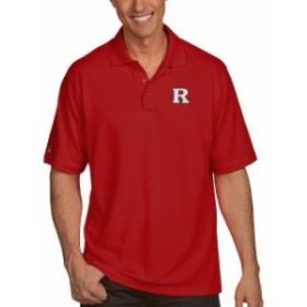 Antigua アンティグア スポーツ用品  Antigua Rutgers Scarlet Knights Mens Red Pique Xtra Lite Polo