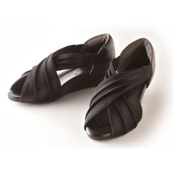 美歩人エレガンスサンダル - セシール ■カラー:ブラック ■サイズ:L(24.0-25.0),M(23.0-24.0)