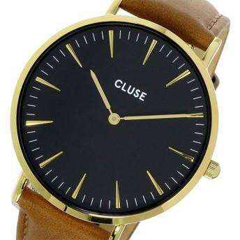 クルース CLUSE ラ・ボエーム レザーベルト 38mm レディース 腕時計 CL18404 ブラック/キャメル ブラック
