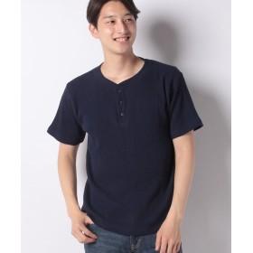 インクルーシブ 11.5オンス ランダムワッフル コットンTシャツ メンズ ネイビー XL 【INCREWSIVE】