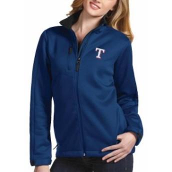 Antigua アンティグア アウターウェア ジャケット/アウター Antigua Texas Rangers Womens Royal Traverse Jacket