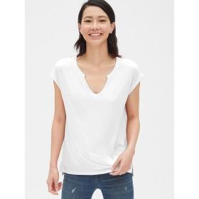 Gap ソフトスラブ ノッチネックTシャツ