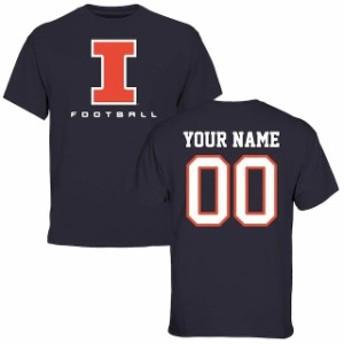 Fanatics Branded ファナティクス ブランド スポーツ用品 Illinois Fighting Illini Navy Personalized Football T-Sh