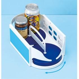 冷蔵庫内調味料ラックホワイトブルー