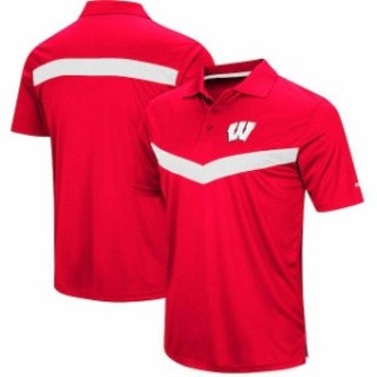 Colosseum コロセウム スポーツ用品 Colosseum Wisconsin Badgers Red Fastball Polo