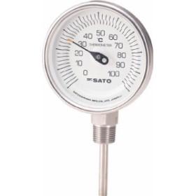 佐藤 バイメタル温度計BMーS型【BM-S-90S-1】(計測機器・温度計・湿度計)