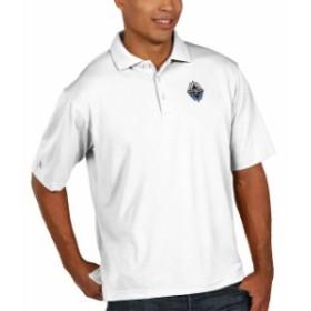 Antigua アンティグア スポーツ用品  Antigua Vancouver Whitecaps FC White Pique Xtra Lite Big & Tall Polo