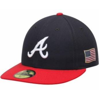 New Era ニュー エラ スポーツ用品 New Era Atlanta Braves Navy/Red Authentic Collection On-Field US Flag 59FIFTY Fitte