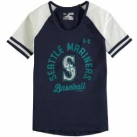 Under Armour アンダー アーマー スポーツ用品  Under Armour Seattle Mariners Girls Youth Navy/White Baseball Half-Sl