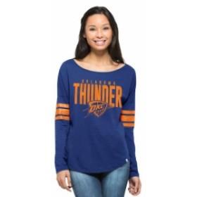 47 フォーティーセブン スポーツ用品  47 Oklahoma City Thunder Womens Blue Ladies Courtside Long Sleeve T-Shirt