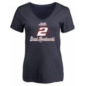 Fanatics Branded ファナティクス ブランド スポーツ用品  Brad Keselowski Womens Navy Race Day V-Neck T-Shirt
