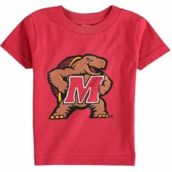 Two Feet Ahead トゥー フィート アヘッド スポーツ用品 Maryland Terrapins Infant Red Big Logo T-Shirt