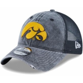 New Era ニュー エラ スポーツ用品  New Era Iowa Hawkeyes Black Tonal Washed Trucker 2 9TWENTY Snapback Hat
