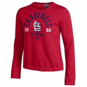 Under Armour アンダー アーマー スポーツ用品 Under Armour St. Louis Cardinals Womens Red Levity Pullover Sweatshir