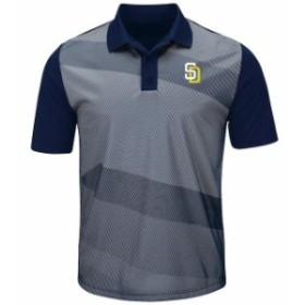 Majestic マジェスティック シャツ ポロシャツ Majestic San Diego Padres Gray/Navy Late Night Prize Polo