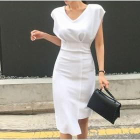 レディース ワンピース ドレス ミディアム丈 タイト きれいめ オフィス フェミニン デート お呼ばれ dfkj0256