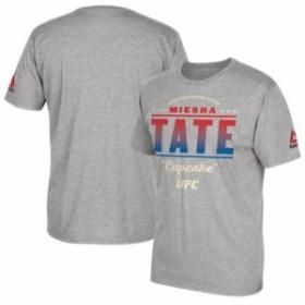 Reebok リーボック スポーツ用品  Reebok Miesha Tate Gray UFC All-Star Series T-Shirt