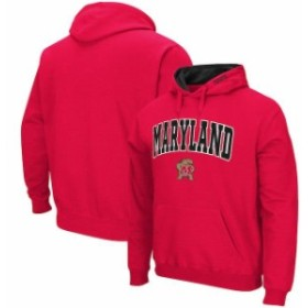 Colosseum コロセウム スポーツ用品  Colosseum Maryland Terrapins Red Arch & Logo Pullover Hoodie