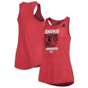 Reebok リーボック スポーツ用品 Reebok Khabib Nurmagomedov UFC Womens Red Fighter Specific Tri-Blend Tank Top