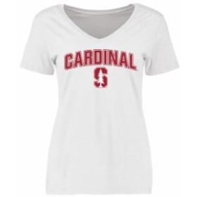 Fanatics Branded ファナティクス ブランド スポーツ用品  Stanford Cardinal Womens White Proud Mascot T-Shirt
