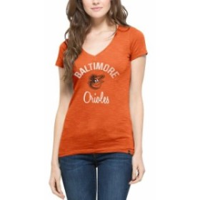 47 フォーティーセブン スポーツ用品  47 Baltimore Orioles Womens Orange Scrum V-Neck T-Shirt