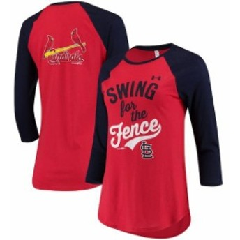 Under Armour アンダー アーマー スポーツ用品 Under Armour St. Louis Cardinals Womens Red Baseball 3/4-Sleeve T-Shi