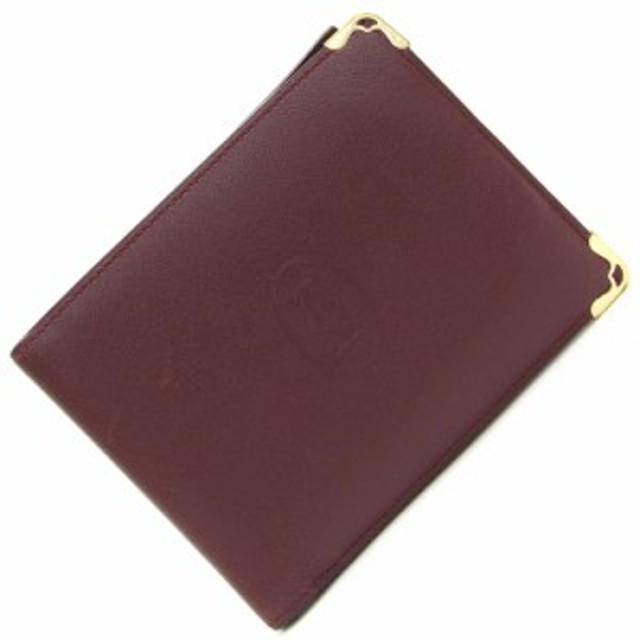 buy popular 3e900 f2438 カルティエ 二つ折り財布 マスト ドゥ カルティエ L3001368 ...