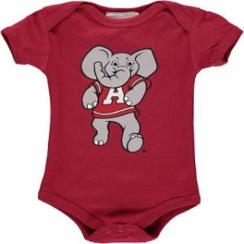 Two Feet Ahead トゥー フィート アヘッド スポーツ用品 Alabama Crimson Tide Infant Crimson Big Logo Bodysuit