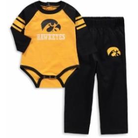 Outerstuff アウタースタッフ スポーツ用品  Iowa Hawkeyes Newborn Gold/Black Future Starter Long Sleeve Bodysuit and