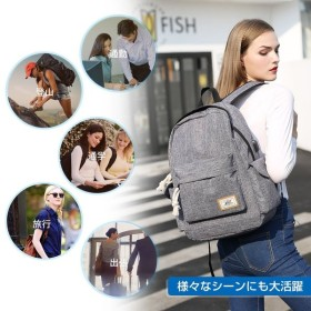 YONiMO バックパック USBポートイヤホンポート 大容量 耐衝撃 PCリュック USB延長コード付き 通勤 通学 旅行 出張 男女兼用