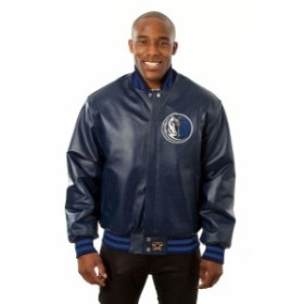 JH Design ジェイエイチ デザイン スポーツ用品  JH Design Dallas Mavericks Navy Domestic Team Color Leather Jacket