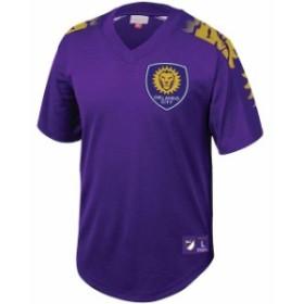 Mitchell & Ness ミッチェル アンド ネス スポーツ用品  Mitchell & Ness Orlando City SC Purple Mesh V-Neck Jersey
