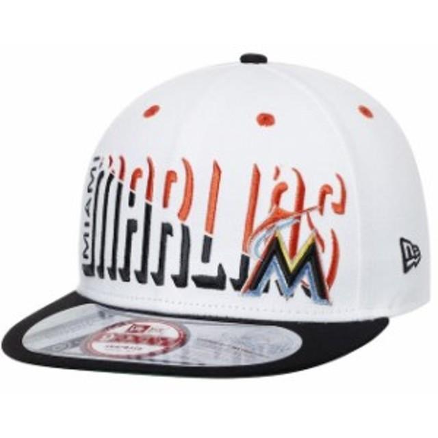 New Era ニュー エラ スポーツ用品  New Era Miami Marlins White/Navy Splitter 9FIFTY Snapback Adjustable Hat