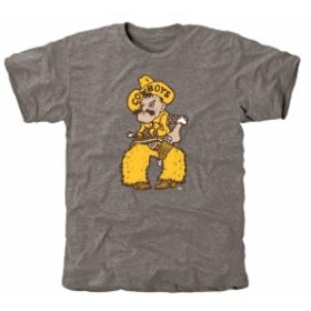 Fanatics Branded ファナティクス ブランド スポーツ用品  Wyoming Cowboys Gray Auxiliary Logo Tri-Blend T-Shirt