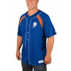 Majestic マジェスティック スポーツ用品  Majestic New York Mets Royal/Orange Cooperstown Collection Peak Power Fash