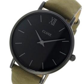 クルース CLUSE ミニュイ レザーベルト 33mm レディース 腕時計 CL30007 フルブラック/オリーブグリーン ブラック
