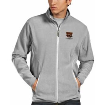 Antigua アンティグア スポーツ用品  Antigua Western Michigan Broncos Gray Ice Full Zip Jacket