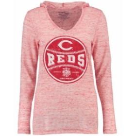 Industry Rag インダストリー ラグ スポーツ用品  Cincinnati Reds Womens Red Thermal Slub Long Sleeve T-Shirt