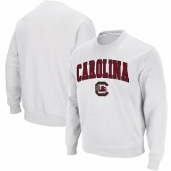 Colosseum コロセウム スポーツ用品  Colosseum South Carolina Gamecocks White Arch & Logo Crew Neck Sweatshirt