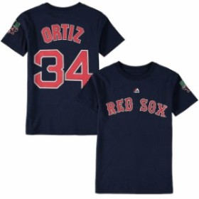Majestic マジェスティック スポーツ用品  Majestic David Ortiz Boston Red Sox Youth Navy Special Event Patch Name &